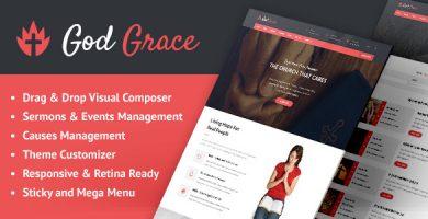 God Grace - قالب وردپرس کلیسا