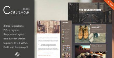 قالب Courage - قالب وردپرس وبلاگ خلاقانه