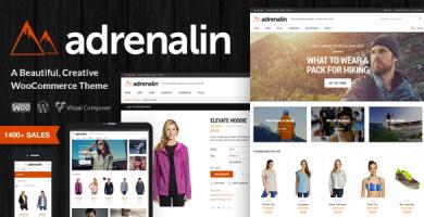 آدرنالین | Adrenalin - قالب ووکامرس چند منظوره