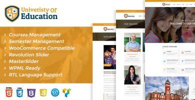 قالب University of Education WordPress Theme - قالب وردپرس برگزاری دوره های آموزشی