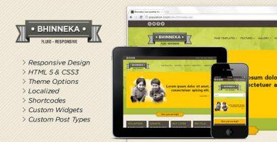قالب Bhinneka - قالب وردپرس