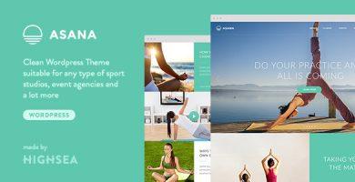 قالب Asana - قالب وردپر ورزش یوگا