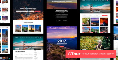 قالب گرند تور | Grand Tour - قالب وردپرس آژانس گردشگری