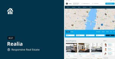 Realia - قالب وردپرس مشاور املاک