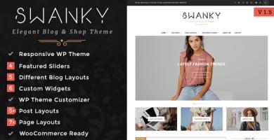 قالب Swanky - قالی بلاگ و فروشگاه وردپرس
