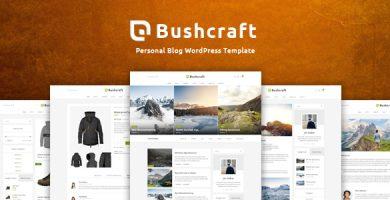 قالب Bushcraft - قالب وردپرس وبلاگ شخصی