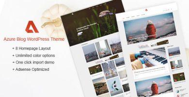 قالب Azure - قالب وردپرس بلاگ
