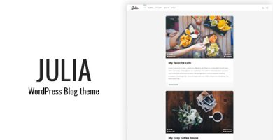 قالب Julia - قالب بلاگ کلاسیک وردپرس