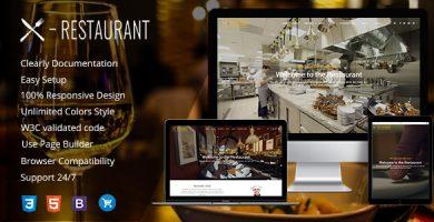 قالب Restaurant - قالب وردپرس