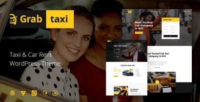 قالب Grab Taxi - قالب وردپرس خدمات تاکسی آنلاین