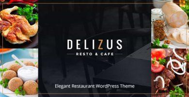 قالب Delizus - قالب وردپرس رستوران و کافه