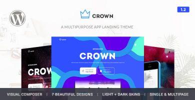 قالب Crown - قالب وردپرس معرفی اپلییکیشن