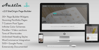 قالب Austin - قالب وردپرس سایت آژانس طراحی