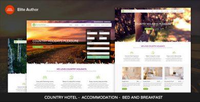 قالب CountryHolidays - قالب وردپرس هتل و مسافرخانه
