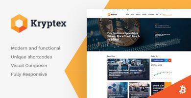 قالب Kryptex - قالب وردپرس ارز دیجیتال و ماینینگ