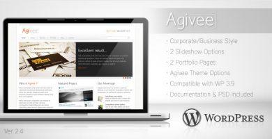 Agivee - قالب وردپرس کسب و کار شرکتی