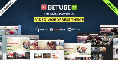 بیوتیوب | Betube - قالب ویدئو وردپرس