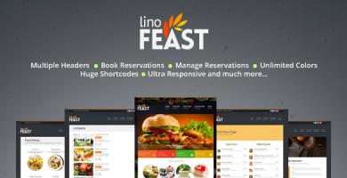 قالب LinoFeast - قالب ریسپانسیو وردپرس رستوران