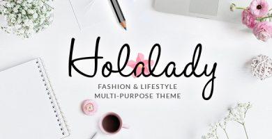 قالب HolaLady - قالب چند منظوره مد و سبک زندگی