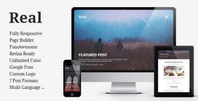 قالب REAL - قالب وردپرس وبلاگی