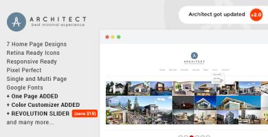 Architect - پوسته وردپرس خلاقانه آژانس