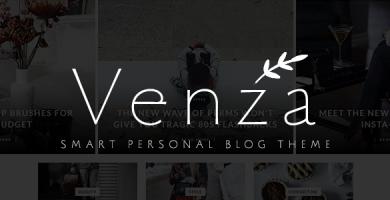 قالب Venza - قالب وردپرس شخصی هوشمند