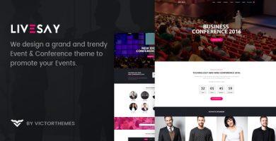 قالب Livesay - قالب وردپرس رویداد و کنفرانس