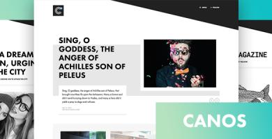 قالب Canos - قالب وبلاگی خلاقانه وردپرس