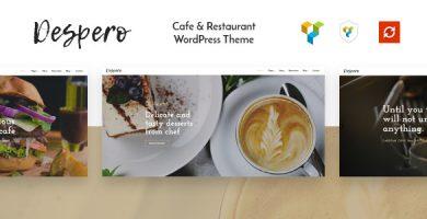 قالب Despero - قالب وردپرس کافه و رستوران