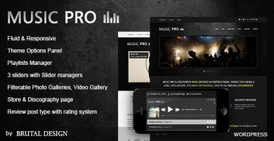 قالب Music Pro - قالب وردپرس موسیقی