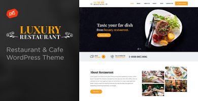 قالب Luxury - قالب وردپرس رستوران و کافه