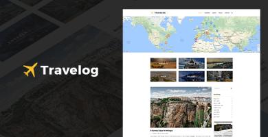 قالب Travelog - قالب وردپرس برای مسافران