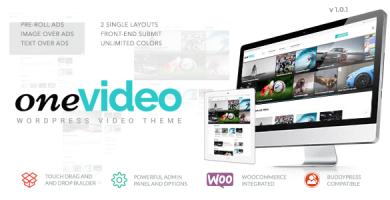 قالب OneVideo - قالب وردپرس سایت ویدئویی