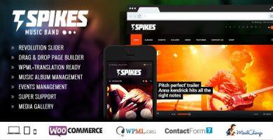 Spikes - قالب وردپرس گروه موسیقی