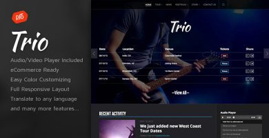 قالب Trio - قالب وردپرس گروه