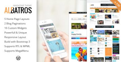 قالب Albatros - قالب مجله وردپرس