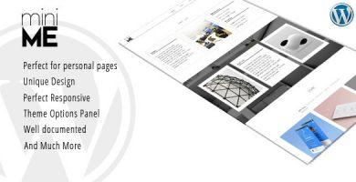 قالب miniME - قالب نمونه کار و رزومه شخصی