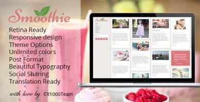 قالب Smoothie - قالب وردپرس وبلاگ