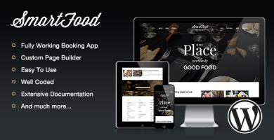 قالب SmartFood - قالب وردپرس رستوران و کافی شاپ