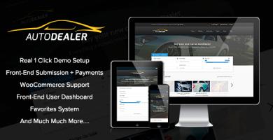 AutoDealer - قالب وردپرس نمایشگاه ماشین