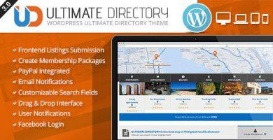 Ultimate Directory - قالب وردپرس ریسپانسیو