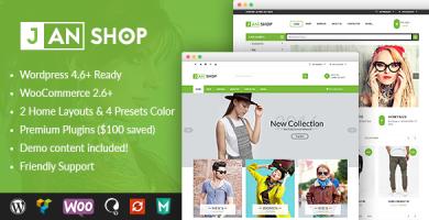 VG JanShop - قالب وردپرس فروشگاهی