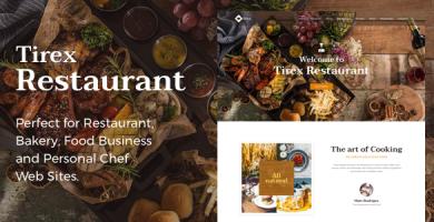 قالب Tirex Restaurant - قالب وردپرس برای رستوران و کافه