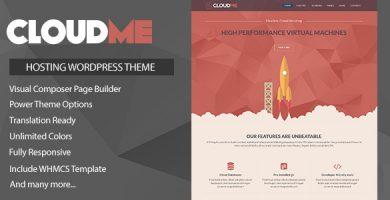 Cloudme Host - قالب میزبانی هاست وردپرس + WHMCS