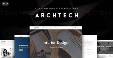 Archtech - قالب وردپرس معماری