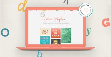 قالب Letters Rhythm - قالب وبلاگ وردپرس