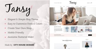 قالب Tansy - قالب وبلاگ وردپرس