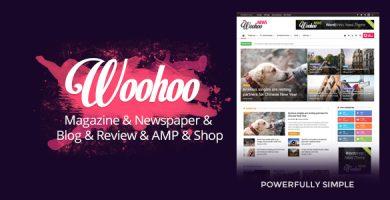 ووهوو | Woohoo - قالب حرفه ای ورپرس مجله خبری