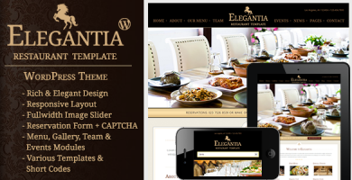 الگانتیا | Elegantia - قالب وردپرس رستوران و کافی شاپ