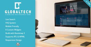 قالب GlobalTech - قالب وردپرس پرسش و پاسخ و پایگاه دانش